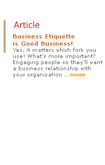 Business Etiquette is good business